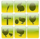 Web icons for Easter