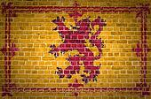 Brick Wall Scotland Lion Rampant