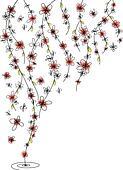 Romantic tender flower background