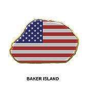 Baker Island metal pin badge