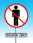 women only sign