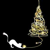 Stylized tangle Christmas tree with