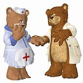 Doctor and Nurse Bear in love