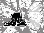 Grungy shoes