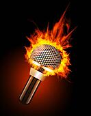 Microphone in Fire