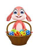 Easter bunny with Egg Basket