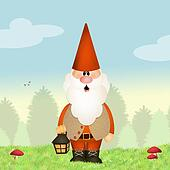 gnome with lantern