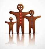 Gingerbread man family