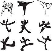 karate - sports silhouette & figure