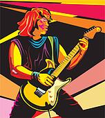 pop art guitarist