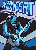 in concert - guitar player