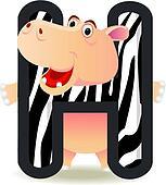 Hippo with alphabet H