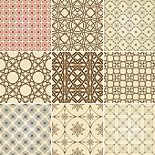 set of nine vector seamless patterns
