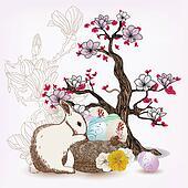 Easter spring scene