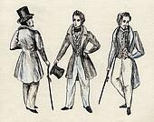 fancy men 18 century.