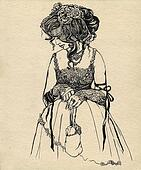 fancy woman 19 century.