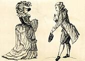 fancy man and woman 18 century.