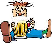 guy with a mug of beer