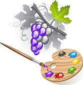 Coloring the grape