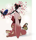 beautiful picture of a geisha
