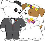 Cute Puppy Marriage