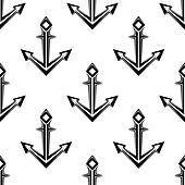 Sea anchor seamless pattern