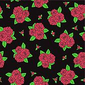 bouquets of roses Seamless pattern.