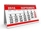 Calendar September 2016.