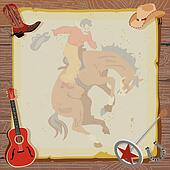 Western Rodeo Cowboy Invitation