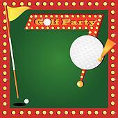 Retro Miniature Golf Invitation