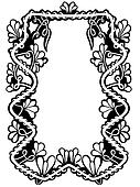 Floral frame isolated