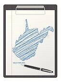 clipboard West Virginia map