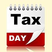 Tax Day Indicates Irs Reminder And Planner