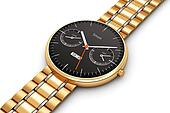 Golden luxury smart watch