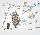 fantasy winter landscape