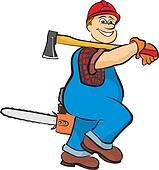 smiling lumberjack