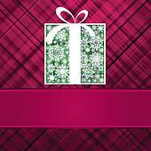Christmas box card. EPS 8