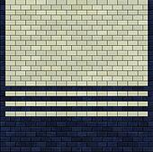3d render blue ivory white tile pattern on a wall