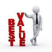 3d businessman plan word presentation