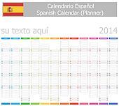 2014 Spanish Planner-2 Calendar wit