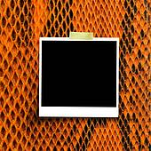 Film paper note on snake skin background