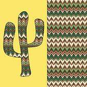 background with cactus