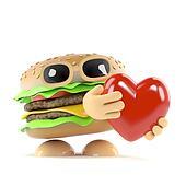 3d Burger love
