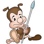 Ant holding Spear