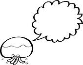 giant squid with speech bubble