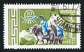 Postman with yaks