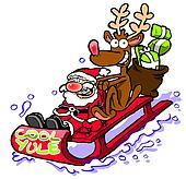 Santa and Rudolf having fun.WBG