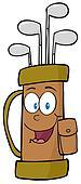 Golf Bag Cartoon Character