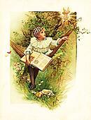 Little boy read the book