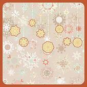 Colorful retro snowflake pattern. EPS 8